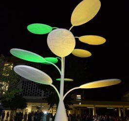 Árvore solar é inaugurada em Goiás